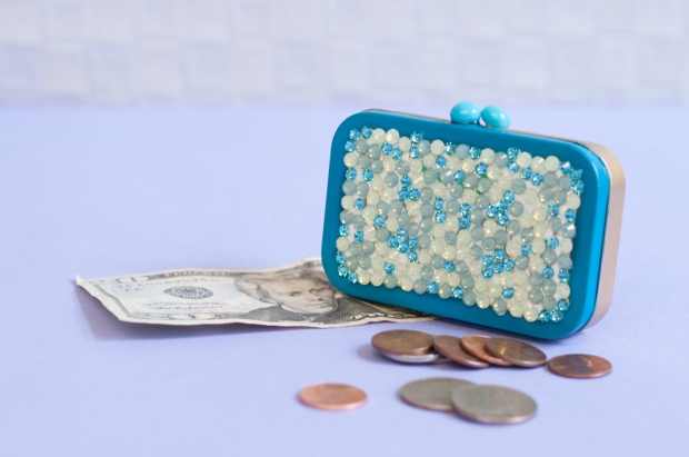 Finished Rhinestone Money Holder