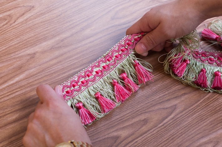 Measuring Tassel Fringe to Cut