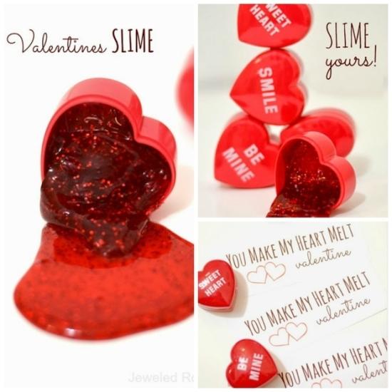 Glitter Slime Valentine