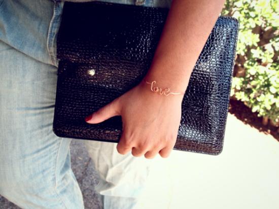 Glitter n' Glue Love Bracelet