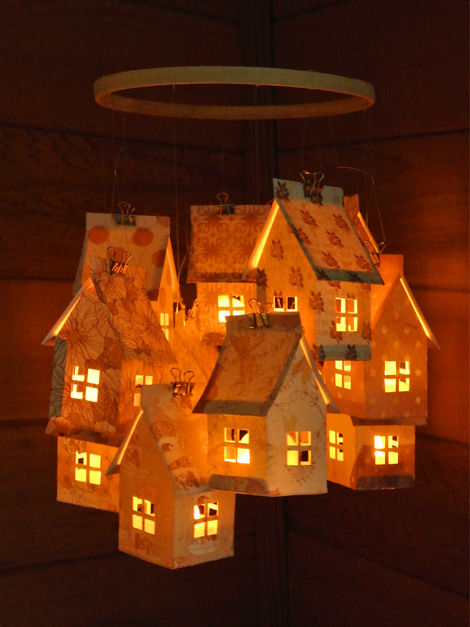 Just Something I Made Paper House Luminaries