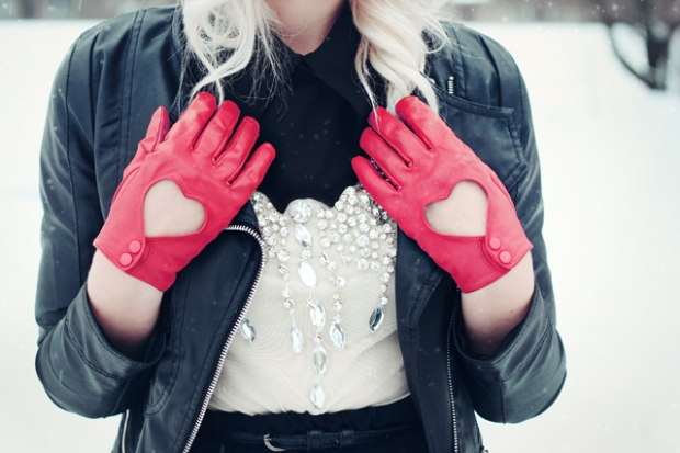 Heart Shaped Gloves