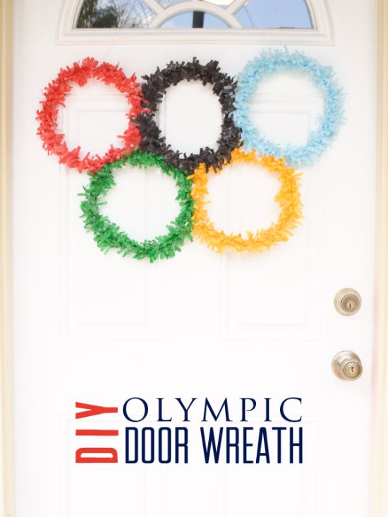 Olympic Ring Door Wreath