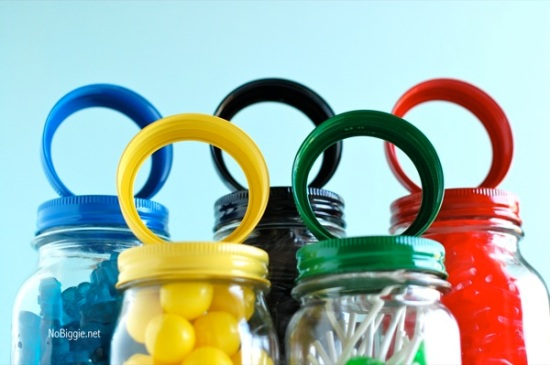 Olympic Ring Candy Jars