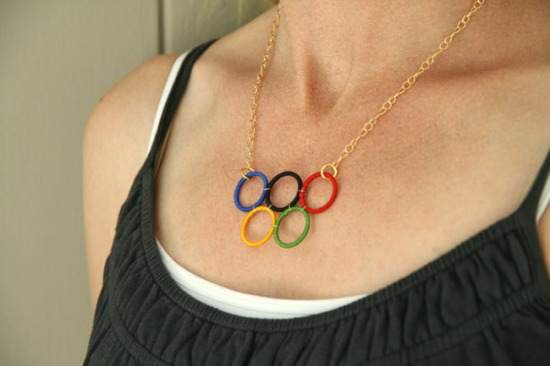 Olympic Ring Necklace