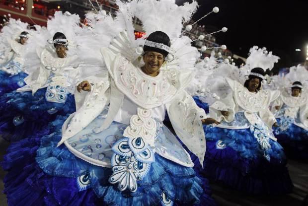 Brazil Carnival Blue Dresses