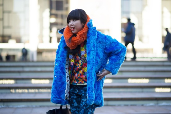 Susie Bubble in Blue Coat