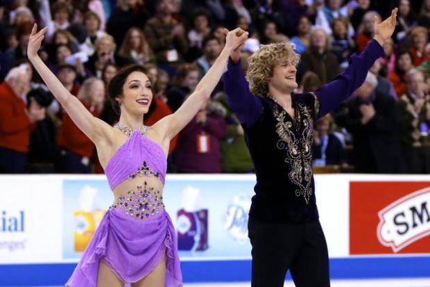 Meryl Davis and Charlie White Ice Dancing
