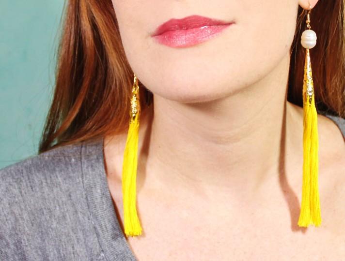 Gina Michele Yellow Drop Earrings