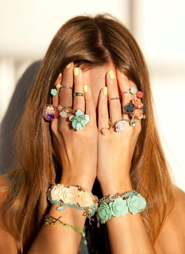 Floral Rings and Bracelets