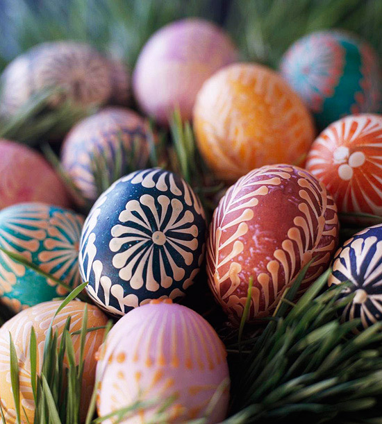 Pattern Dyed Eggs