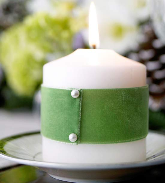 Velvet Candle Wrap from BHG