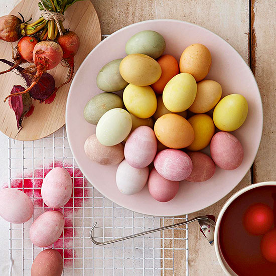 Vegetable Dyed Easter Eggs