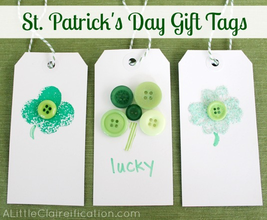 St. Patrick's Day Gift Tags from A Little Claireification