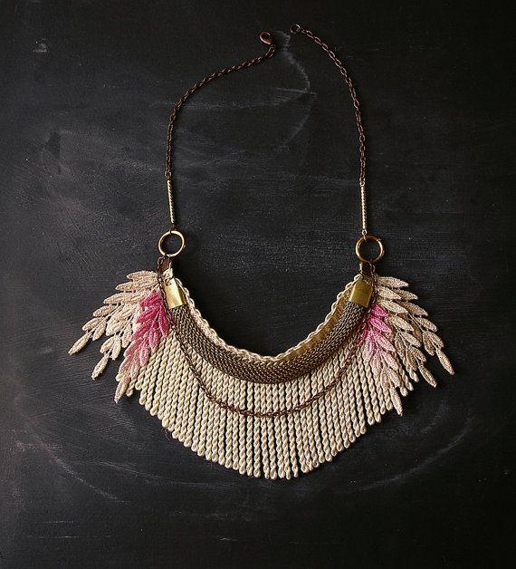 Ombre Fringe Necklace