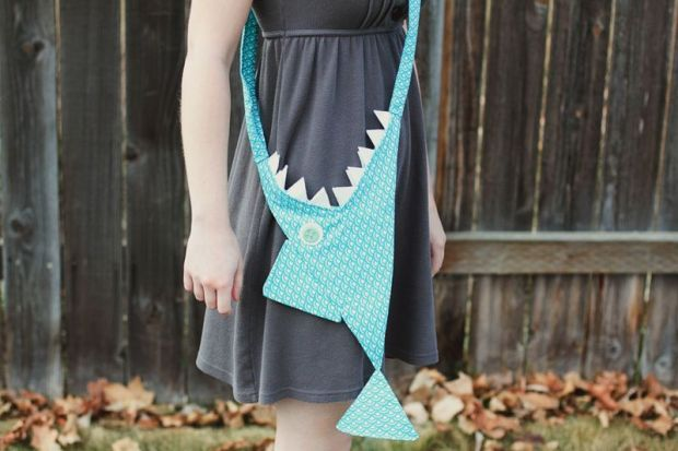 Shark Purse from A Beautiful Mess