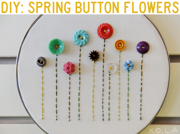 Buttons Flowers from Freckled Nest