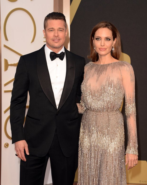 Angelina Jolie and Brad Pitt  at 2014 Oscars