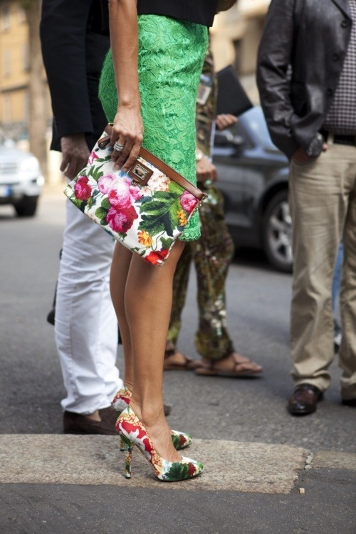 Floral Bag and Shoes