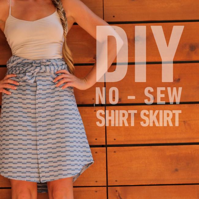 DIY No Sew Shirt Skirt