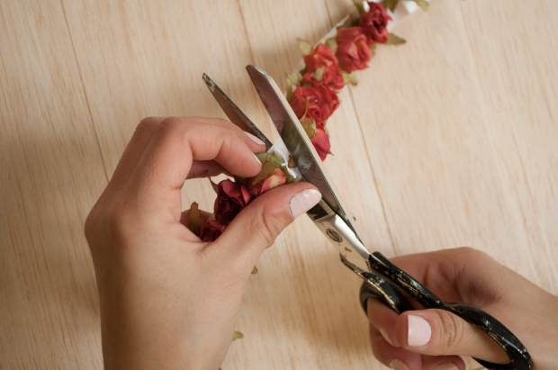 Cutting Floral Trim