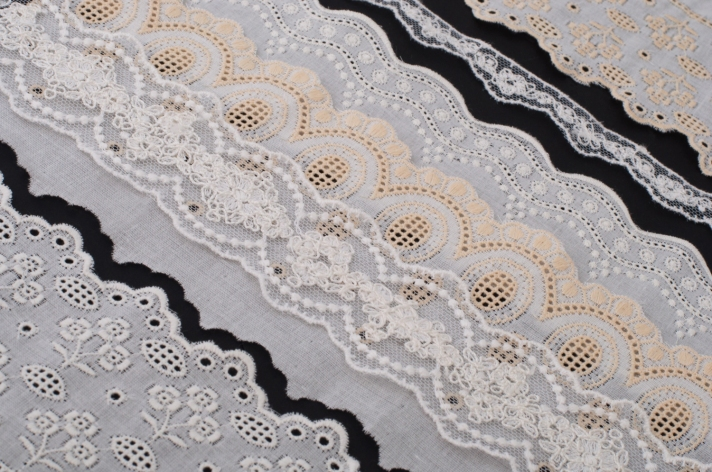 Ivory Lace Trim