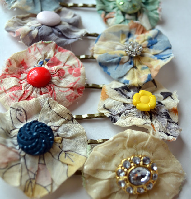 Anthropologie-Inspired Hair Pins from Little Miss Mama
