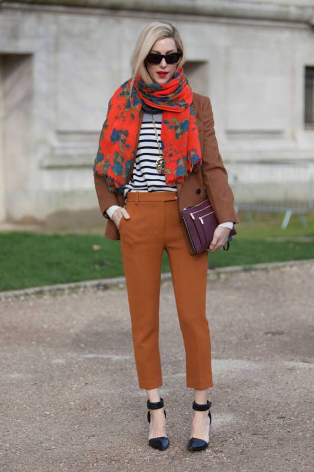 Paris Street Style Floral Scarf