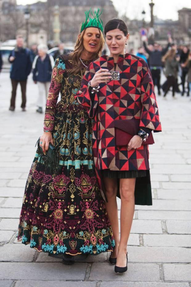 Paris Street Style Anna Dello Russo