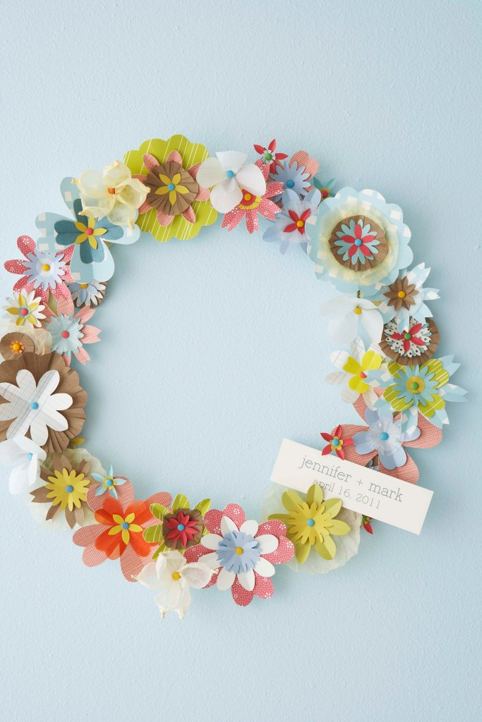 Floral Paper Wreath from Hello Lucky