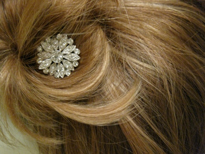 Button Hair Pin from Thanks I Made It