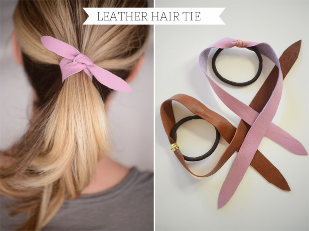 Leather Hair Tie from Cupcakes and Cashmere