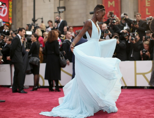 Lupita Nyong'o in Pale Blue Dress