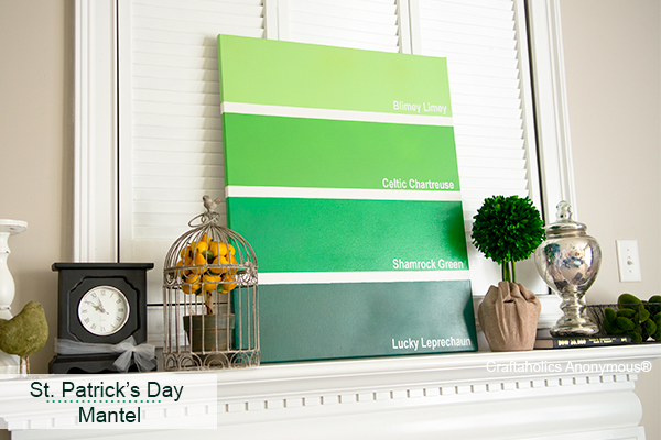 St. Patrick's Day Mantel