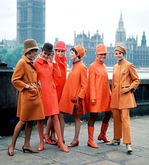 60s Orange Outfits