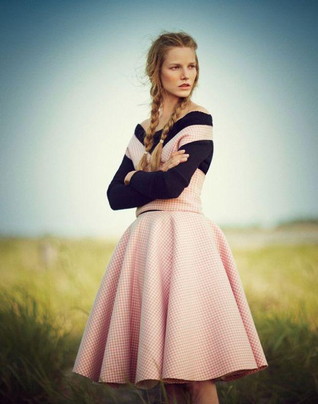 Pink Gingham Circle Skirt