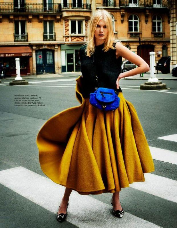 Mustard Full Circle Skirt