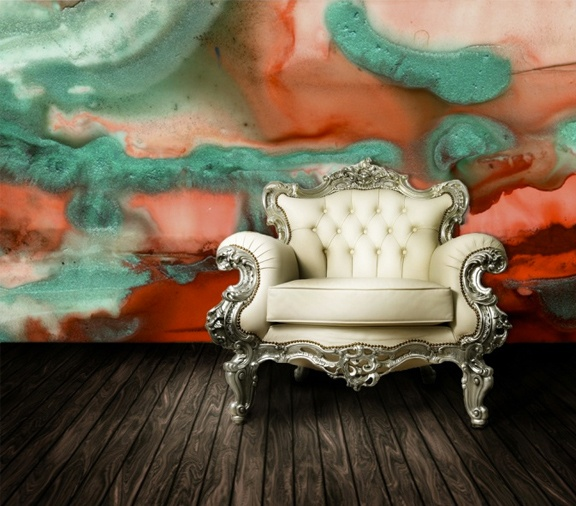 Watercolor Wall and Chair