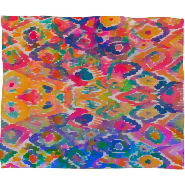 Watercolor Ikat Pattern Throw