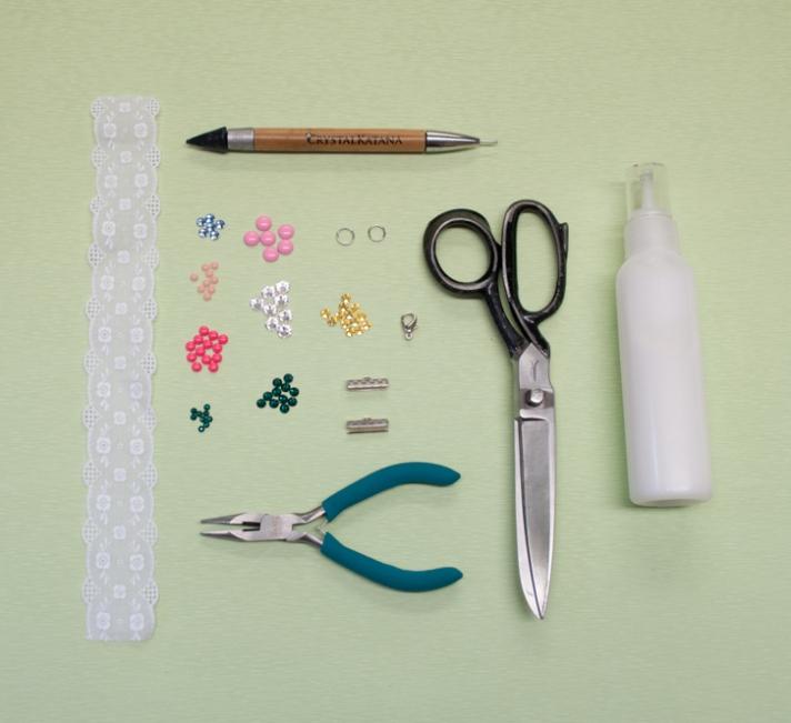 Materials for Lace Bracelet
