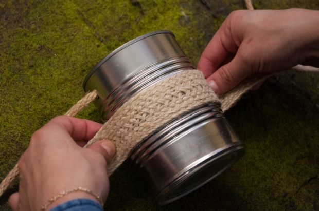 Wrapping Jute Around Can