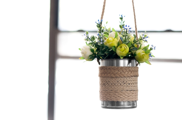 Metal Hanging Planter DIY