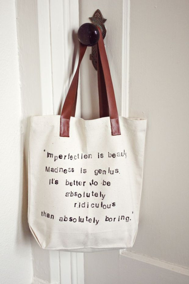 Quote Bag from A Beautiful Mess