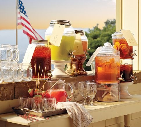 Refreshment Table Styled by Pottery Barn
