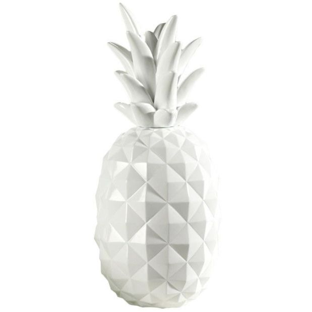 White Pineapple Statue
