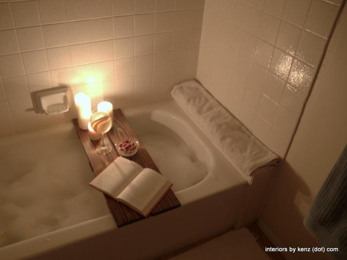Wooden Bath Caddy