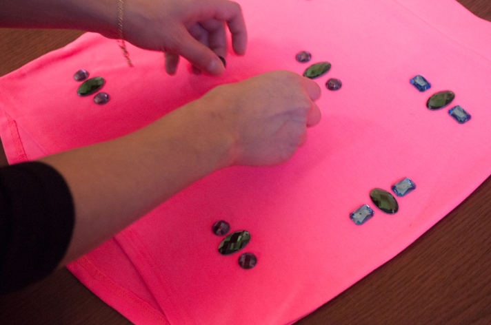 Placing Gems on Skirt