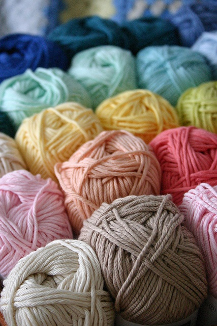 Yarn Organized by Color