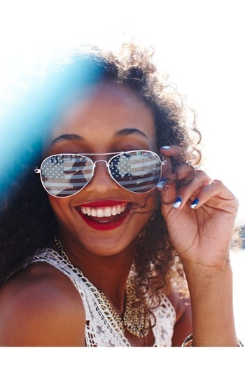 Americana Sunglasses on Smiling Teen