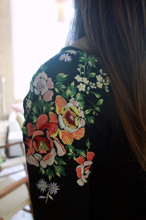 Embroidered Shoulder of Jacket